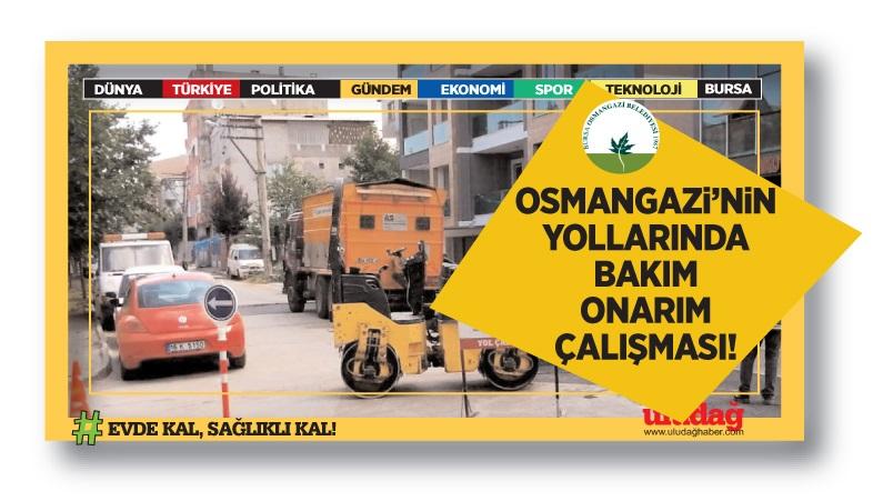 Osmangazi'nin yollarında bakım onarım çalışması