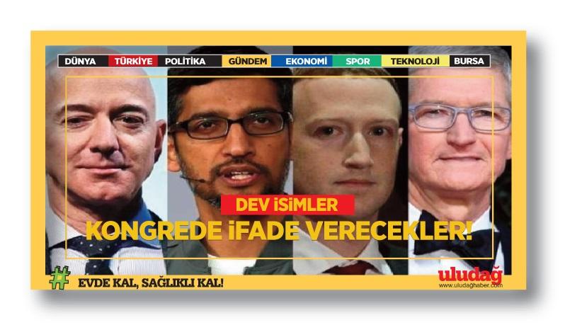 Dünya devleri Amazon, Apple, Google ve Facebook'un CEO'ları ABD Kongresi'nde ifade verecek
