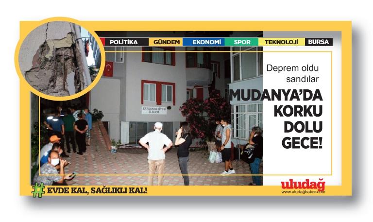 Mudanya'da korku dolu anlar! Deprem oldu sandılar