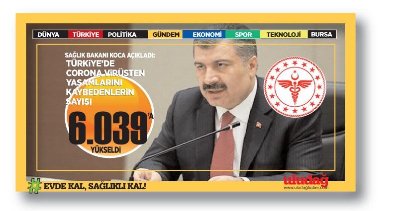 Sağlık Bakanı Fahrettin Koca, koronavirüste son durumu paylaştı