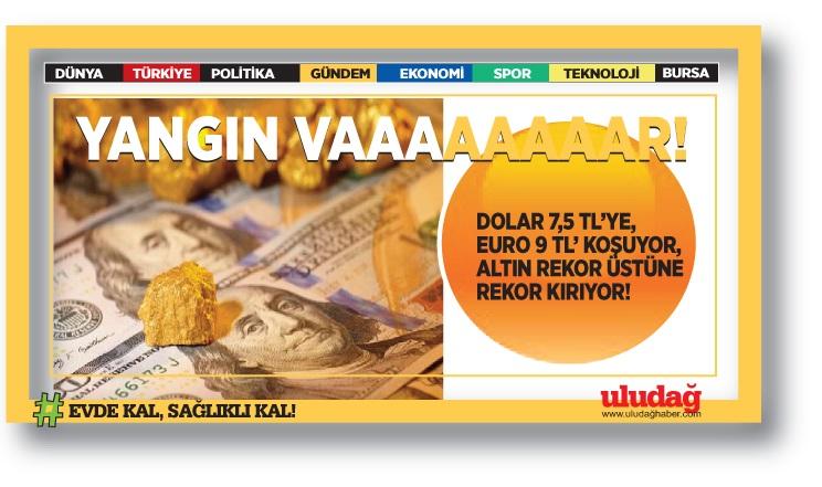 Dolar 7,27'yi de aştı, Euro 9 TL'ye koşuyor! Altında yeni rekor