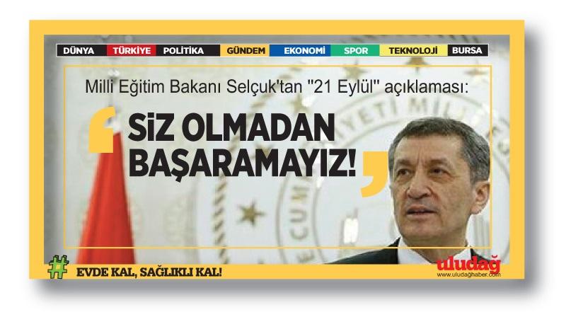 """Milli Eğitim Bakanı Selçuk'tan """"21 Eylül"""" açıklaması"""