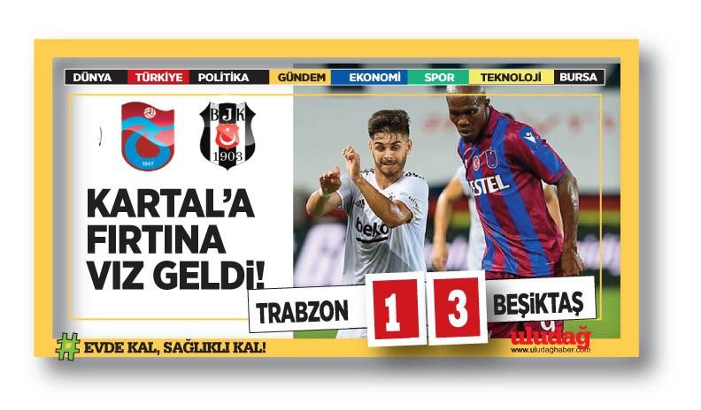 Trabzonspor – Beşiktaş maç sonucu: 1-3