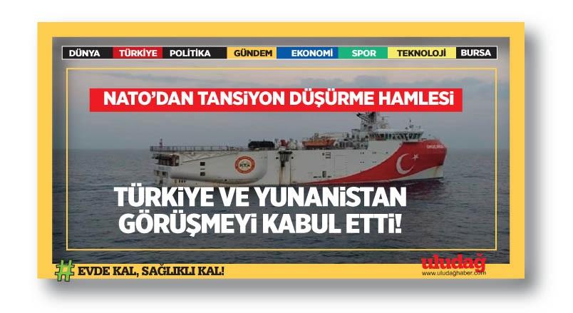 NATO: Türkiye ve Yunanistan görüşmelere başlamayı kabul etti