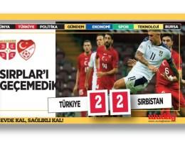 Türkiye: 2 – Sırbistan: 2