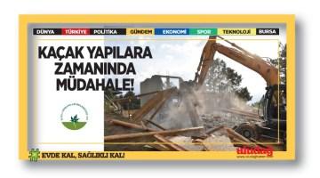 Kaçak yapılar inşaat halindeyken yıkıldı
