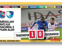 Trabzonspor – Erzurumspor maç sonucu: 1 – 0