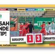 Ümraniyespor, Bursaspor'u deplasmanda devirdi