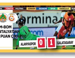 Alanyaspor – Galatasaray : 0 – 1