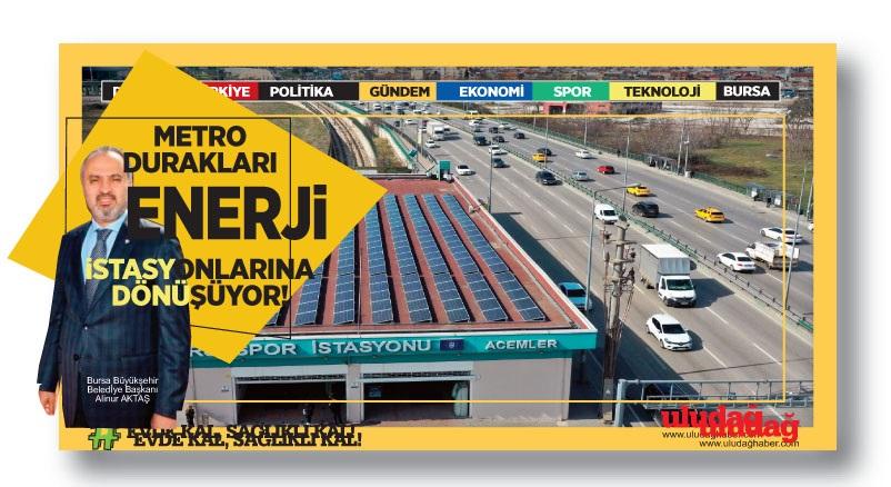 Metro durakları enerji istasyonuna dönüyor