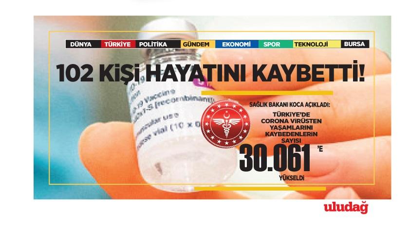 21 Mart 2021 corona virüs tablosu: 102 can kaybı, 20 bin 428 yeni vaka