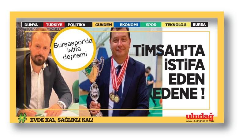 Bursaspor'da istifa edip, kaçan kaçana…
