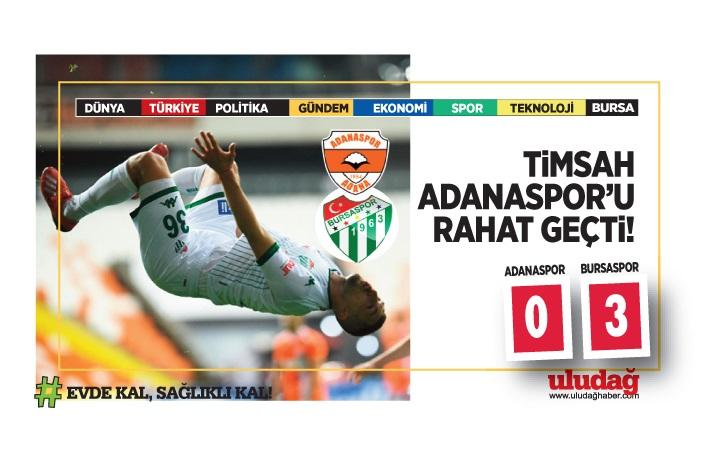 Bursaspor Adanaspor'u rahat geçti…3-0