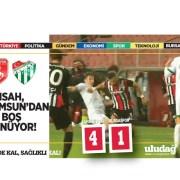 Bursaspor Samsun'a direnemedi:4-1