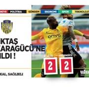 Beşiktaş:2 Ankaragücü: 2