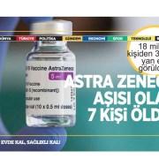 İngiltere'de AstraZeneca aşısı olan 7 kişi kan pıhtısı nedeniyle öldü!
