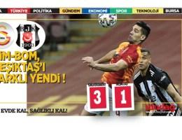 Galatasaray: 3-Beşiktaş: 1