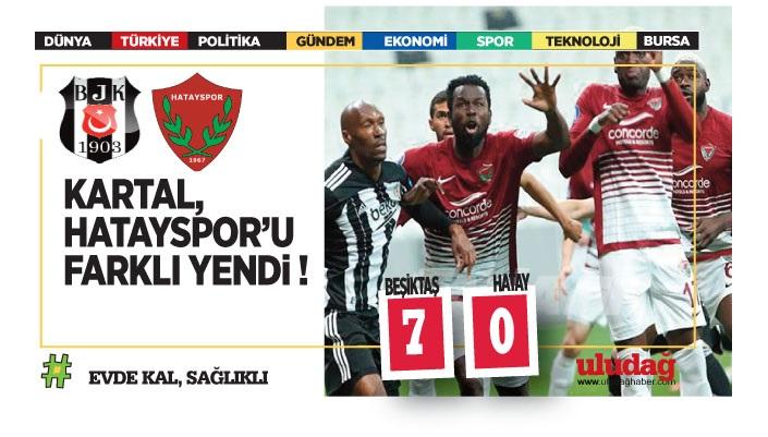Beşiktaş – Hatayspor maç sonucu: 7-0
