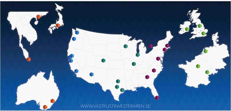 Diversifiering av bolaget locations - Bild lånad från Digital Realty Trust