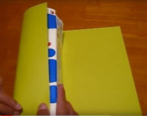 色画用紙 折る