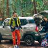【アウトドア】クロスビーでキャンプに役立つキャリア!ターフがあると車中泊も便利!