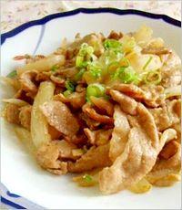 豚肉と玉ねぎのガリマヨポン炒め