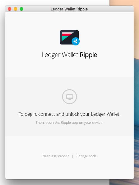 「Ledger Wallet Ripple」を立ち上げます