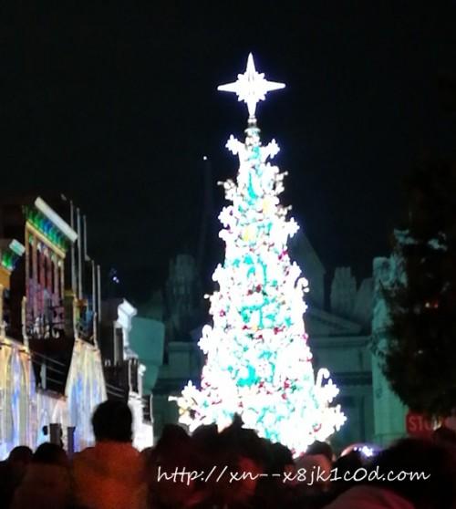 USJ 夜のクリスマスツリー
