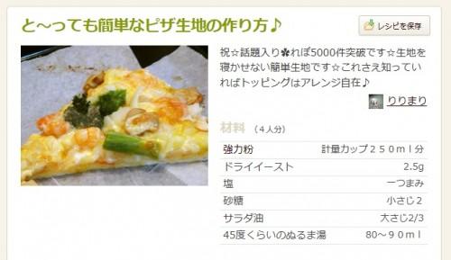 ピザの人気レシピ