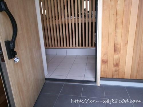 玄関ドアを開けたら見える玄関タイル