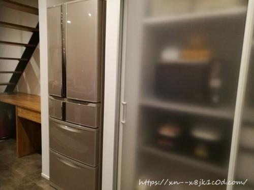 冷蔵庫に何も貼らない状態