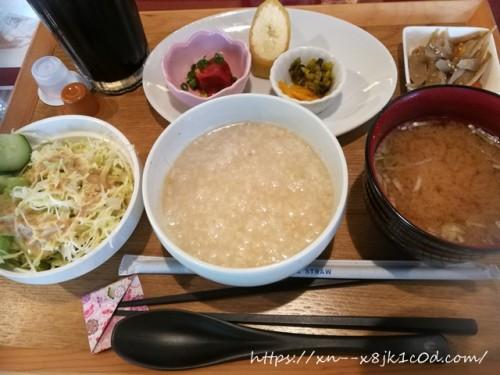 和カフェかぐら羽島店でお粥モーニングを食べてきました!