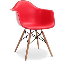Stuhl Eames DAW Stil Rot 0 – MÖBEL24