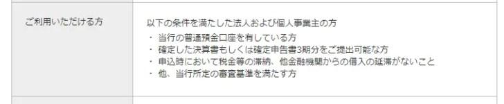 例:楽天銀行「ビジネスローン」