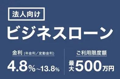 ジャパンネット銀行「ビジネスローン(法人・個人事業主向け)」
