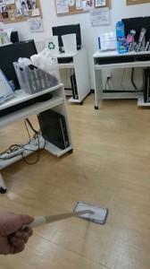 ホームページビルダー教室床掃除