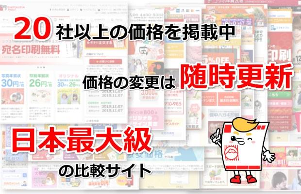 日本最大級の年賀状比較サイト2018