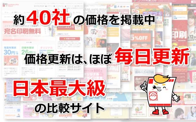 日本最大級の年賀状比較サイト2019