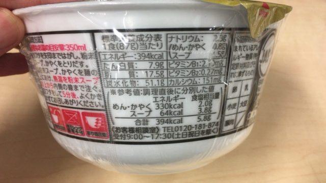黒い豚カレーうどんの栄養素とカロリー