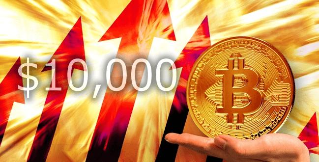 ビットコインが10,000ドル突破!リップルの価格も高騰