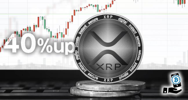 XRP(リップル)急騰!驚異の40%超えの要因は複数存在か
