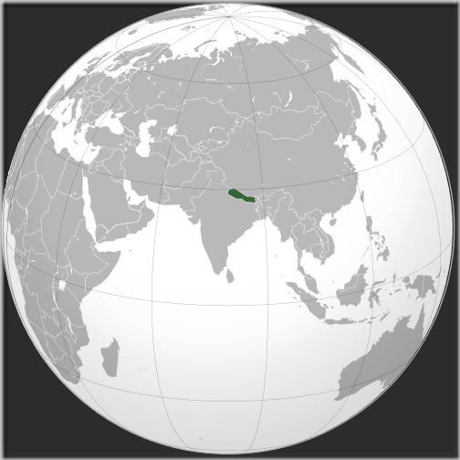 Nepal_(orthographic_projection)_world_map