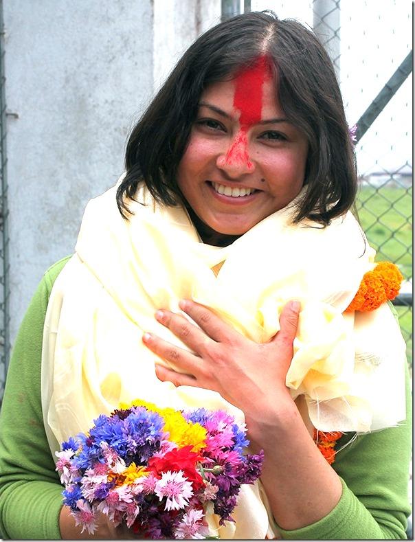 nisha adhikari victrous smile.