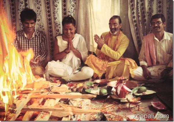rekha thpaa puja yagya and marriage to tree (8)