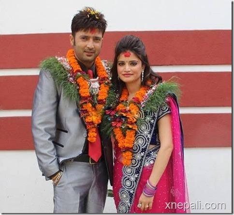 aryan sigdel and sapana bhandari engagement