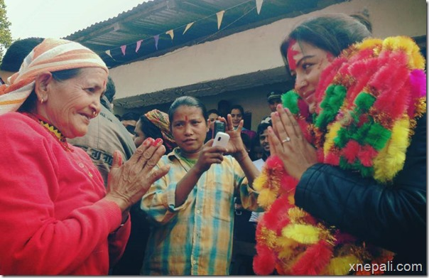 rekha thapa in raute community warm welcome