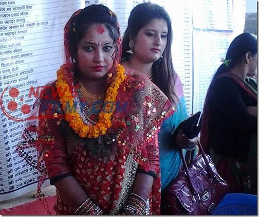 bhawana regmi as a bride