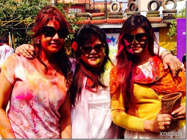 karishma manandhar with sunita dulal and Anjali shrestha