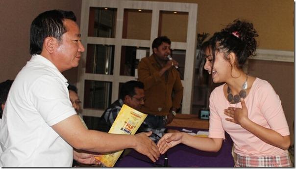 nita adhikari receiving nomination