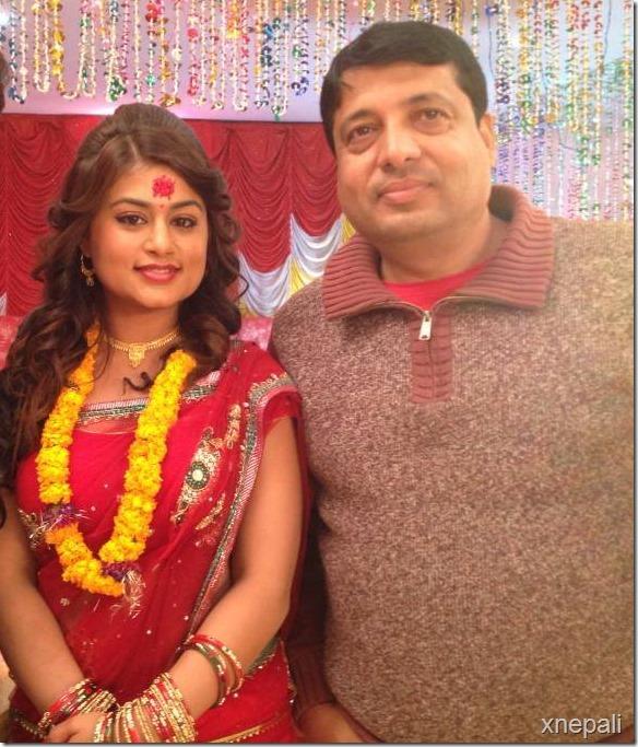 shilpa pokharel with chhabi raj ojha